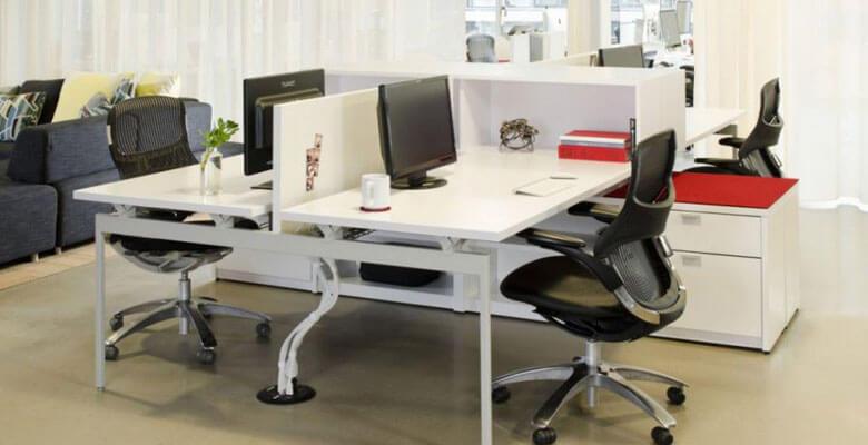 Cải tạo sửa chữa bộ bàn ghế làm việc nhân viên văn phòng tối ưu diện tích sử dụng