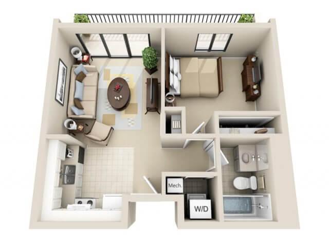 Mặt bằng bố trí nội thất công năng sử dụng trước khi sửa nhà cấp 4