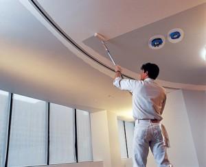Thi công sơn trần nhà