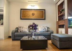 Bộ sofa thanh lịch với gam mầu nâu trắng