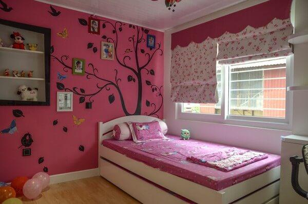 Căn phòng đáng yêu với mầu hồng giành cho con gái