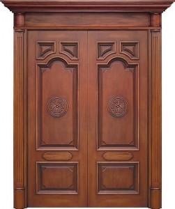 Đẳng cấp với ngôi nhà được thiết kế cửa gỗ cao cấp
