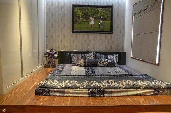Giường ngủ dạng phản liền tiết kiệm tối đa diện tích