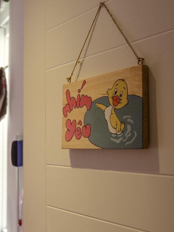Góc trang trí hành lang dẫn vào phòng con gái