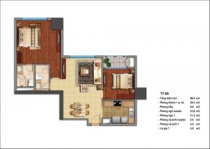 Mặt bằng căn hộ chung cư hiện đại