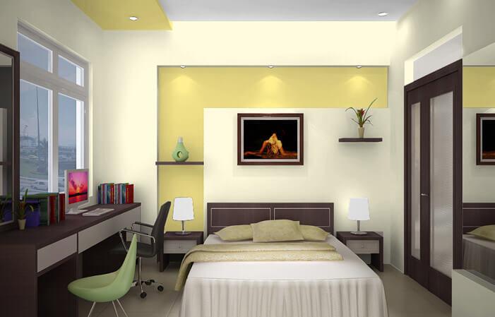 Mẫu phòng ngủ nhỏ nhưng hiện đại sang trọng