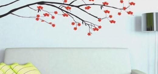 Mẫu sơn hoa văn phong cảnh đẹp