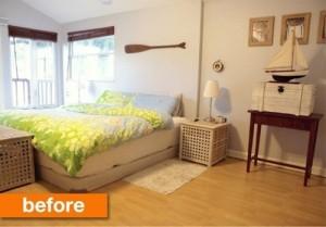 Phòng ngủ nhẹ nhàng có diện tích không quá nhỏ trước khi sửa chữa