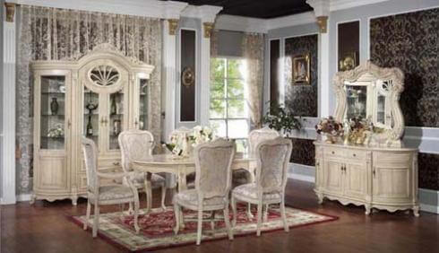 Thiết kế cầu kỳ từng họa tiết khiến phòng ăn thêm sang trọng quý phái