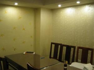 Trang trí nhà bằng họa tiết hoa văn mầu vàng sang trọng