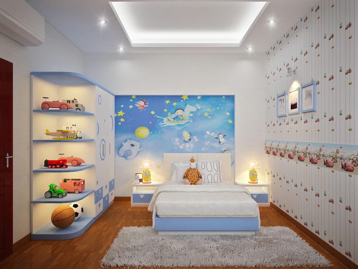 Bài trí không gian trong phòng bé thông thoáng đẹp mắt
