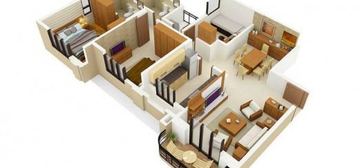 Bản vẽ 3D cairt ạo sửa chữa 9 mẫu chung cư đẹp nhất 2015