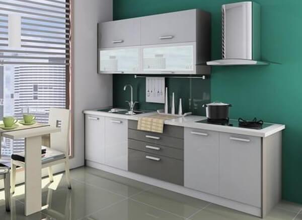 Mẫu nhà đẹp với không gian bếp nhỏ, nhưng vẫn đầy đủ tiện nghi.
