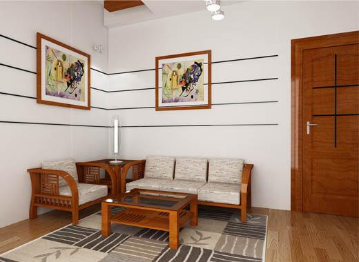 Phòng khách thiết kế nhỏ gọn trong mẫu nhà đẹp, trang nhã