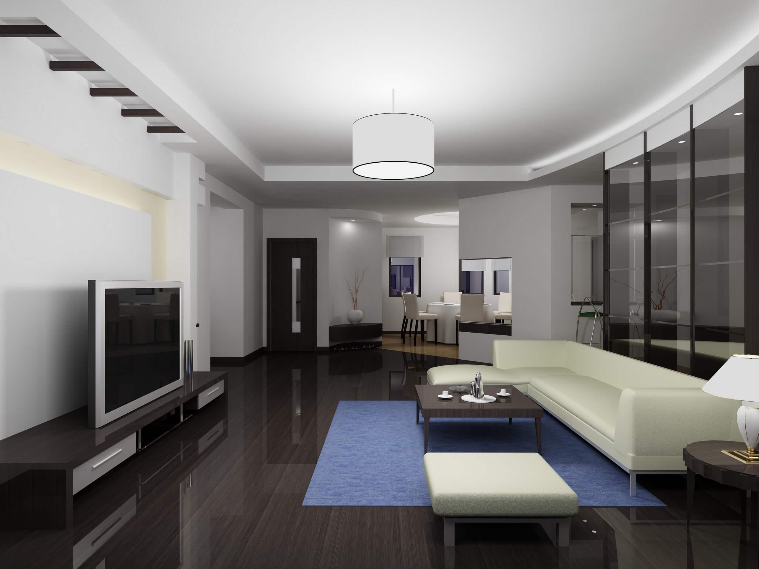 Sửa chữa nhà 75m2 với sự kết hợp khéo léo giữa phòng khách nhà bếp và bàn ăn khiến ngôi nhà thoáng đãng và rộng rãi hơn.