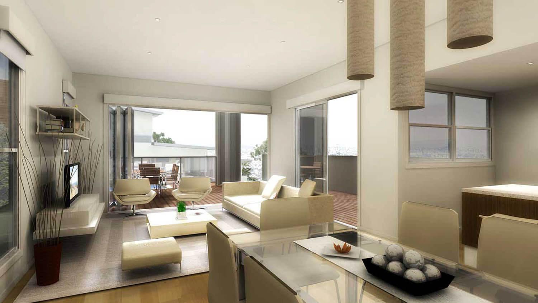 Sửa nhà với những không gian mở gồm phòng khách kết hợp với phòng ăn và bếp.