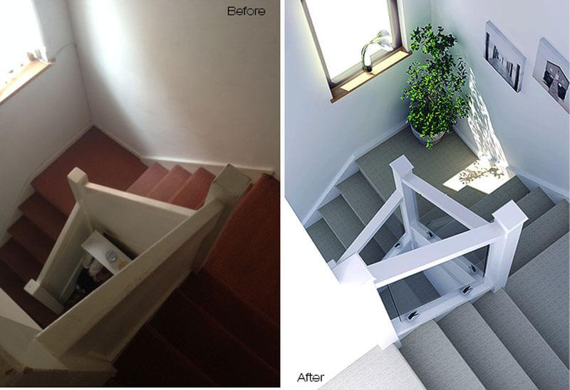 Hệ thống hành lang cầu thang luôn ngập tràn ánh sáng tự nhiên