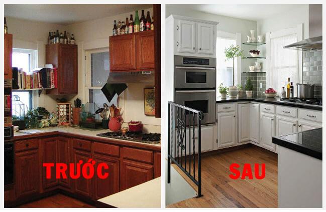 Hình ảnh ngôi nhà trước và sau khi sửa chữa