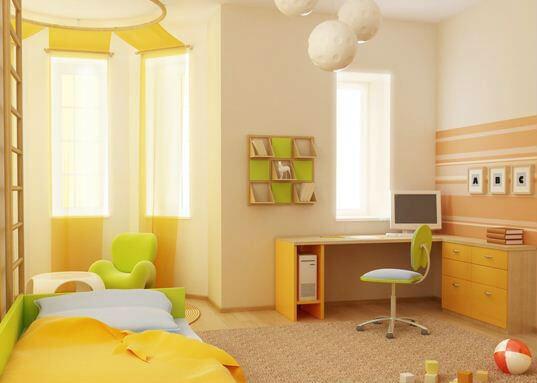 Mầu vàng ấm cúng mang lại ánh sáng tự nhiên cho căn phòng