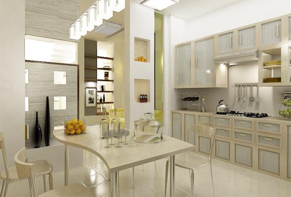 Nhà bếp ngôi nhà 75 m2 3 tầng đẹp hiện đại và đầy đủ tiện nghi