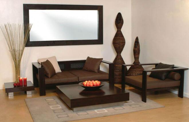 Phòng khách được thiết kế nhỏ gọn tối ưu theo diện tích sử dụng phong cách gọn gàng trang nhã trong căn nhà 35 M2