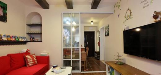 Thiết kế căn nhà có diện tích 30m2, không gian bên trong căn hộ được chia ra làm ba phần chính là gian bếp, phòng khách và phòng ngủ.