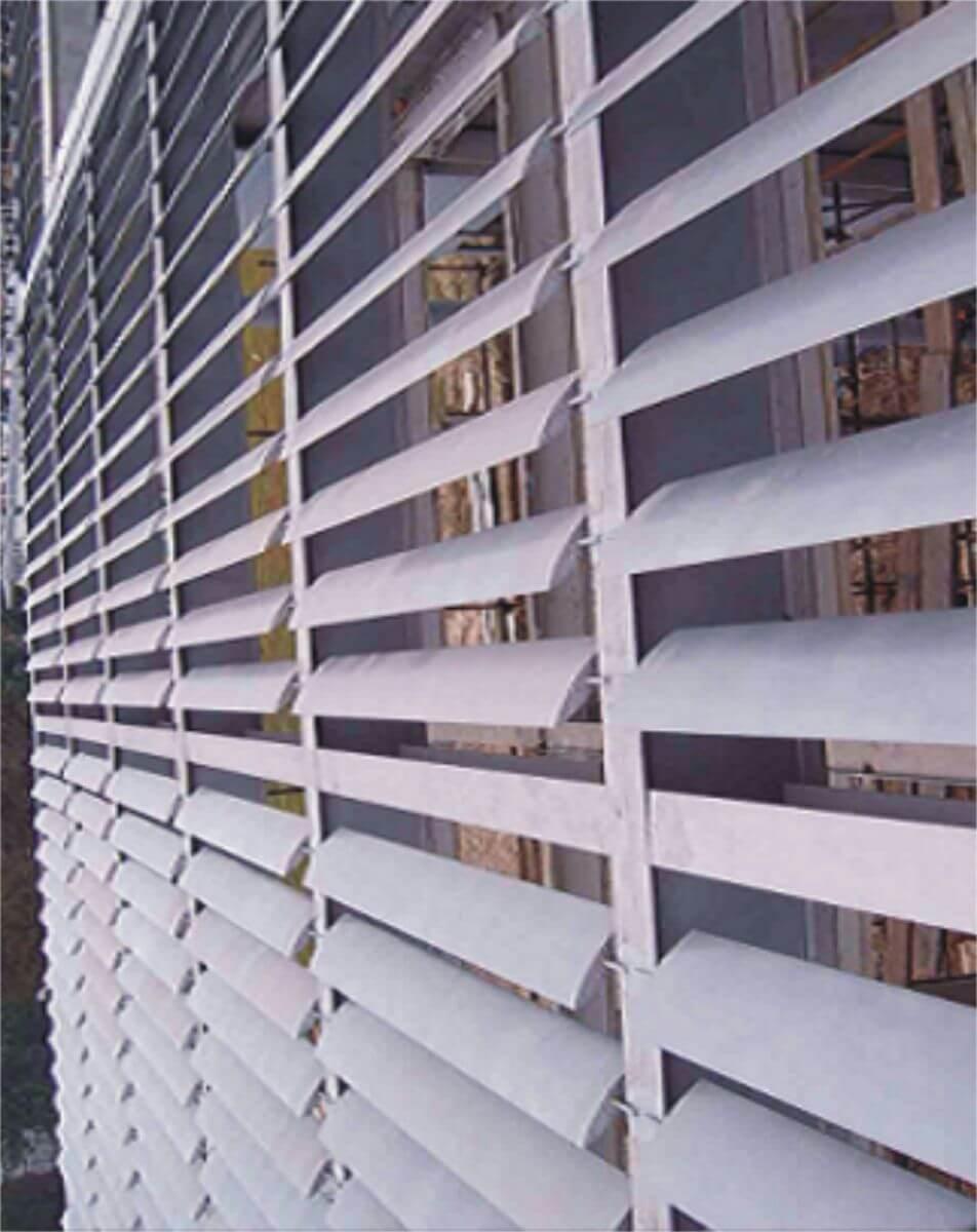 Trong công trình hệ làm chắn nắng hiện đại đã được ứng dụng linh hoạt
