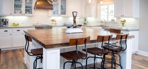 Sơn trang trí phòng bếp màu trắng độc đáo