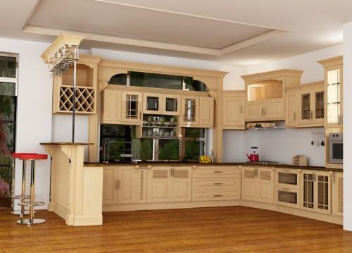 Sau khi sửa căn bếp cũ chung cư trở nên gọn gàng thoáng đãng.