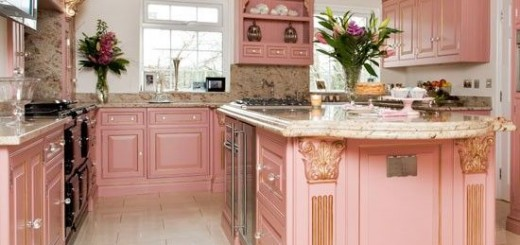 Bếp màu hồng mang vẻ đẹp mới lạ