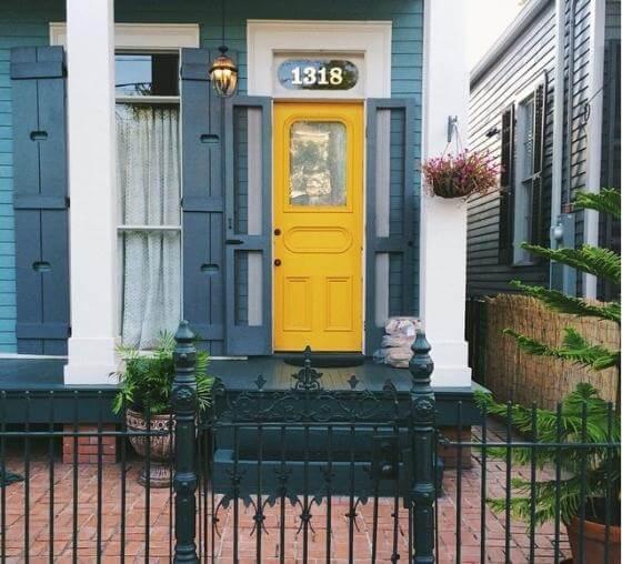 Dịch vụ sơn ngoại thất với gam màu xanh ghi đẹp