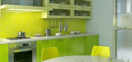 góc bếp màu xanh mát cho nhà mới