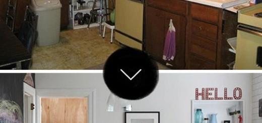 Hình ảnh căn bếp trước và sau khi sửa