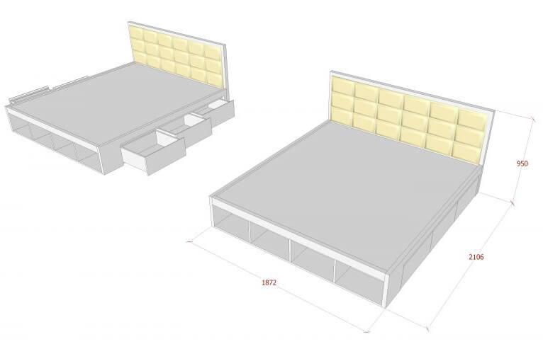 Kiểu giường phần bệt thích hợp với phòng ngủ nhỏ