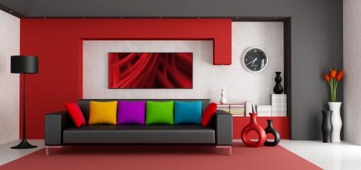 Làm nổi bật căn nhà với gam màu sơn đỏ