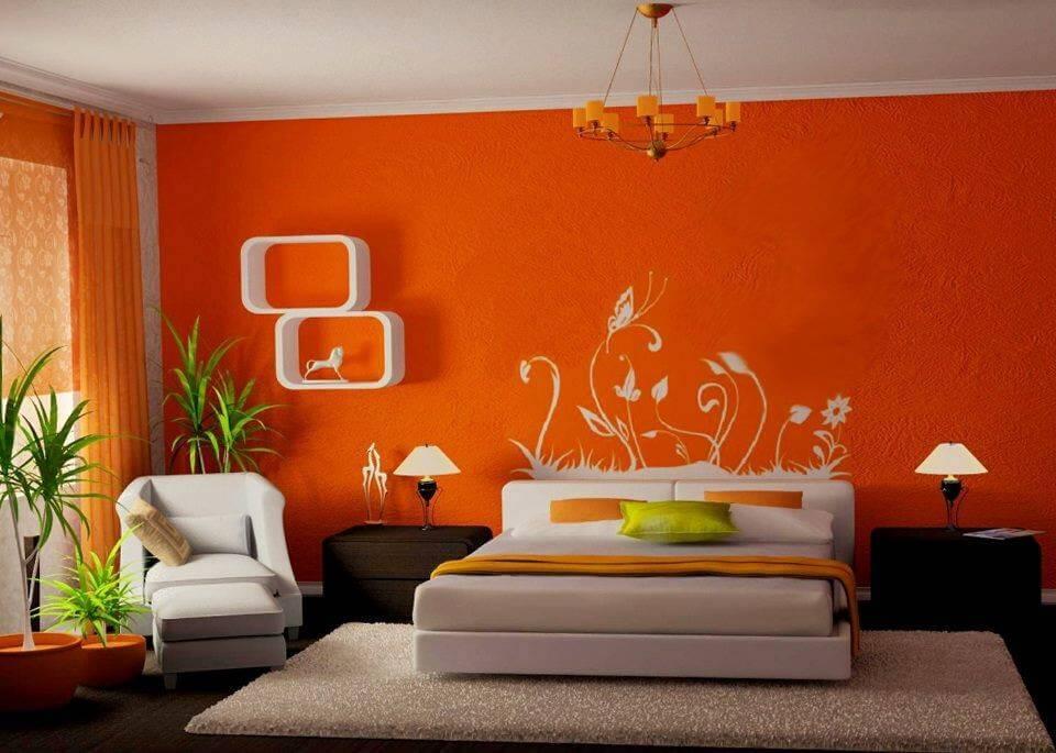 Sơn màu cam đồng phòng ngủ thêm độc đáo, ấn tượng