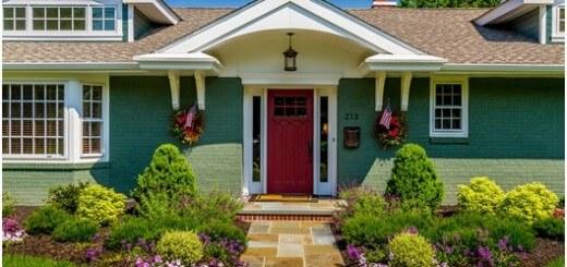 màu sắc ấn tượng dành cho cửa chính