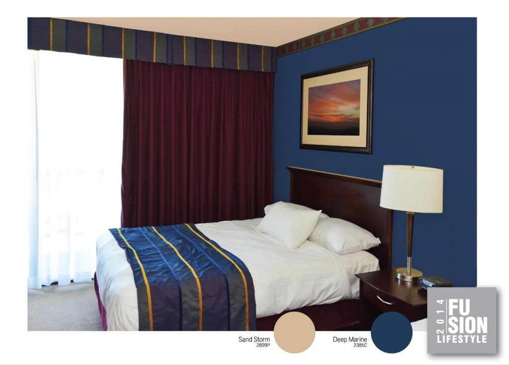Cách xử dụng màu sắc hợp nhất sơn nhà đẹp với mầu xanh xậm