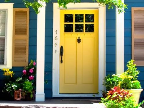 những màu sơn ấn tượng dành cho cửa chính