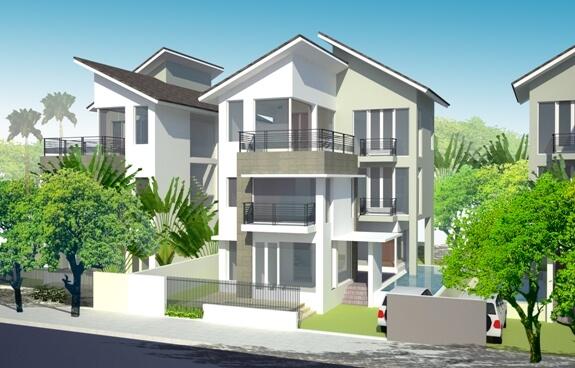 Màu sơn ngoại thất cần phải phù hợp với phong cách kiến trúc của ngôi nhà