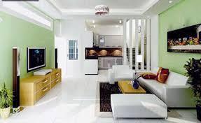 Mẫu sơn phòng khách nhà ống đẹp trang nhã