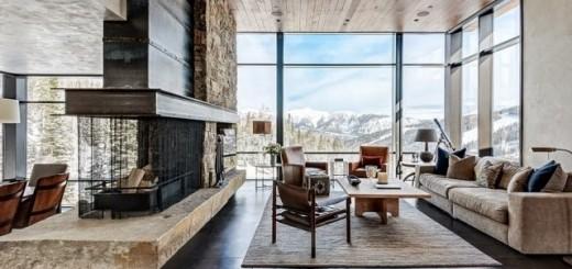 Sửa phòng khách với sự kết hợp hoàn hảo với chất liệu gỗ và đá