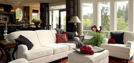 Phòng khách rộng rãi hơn với ghế sofa trắng