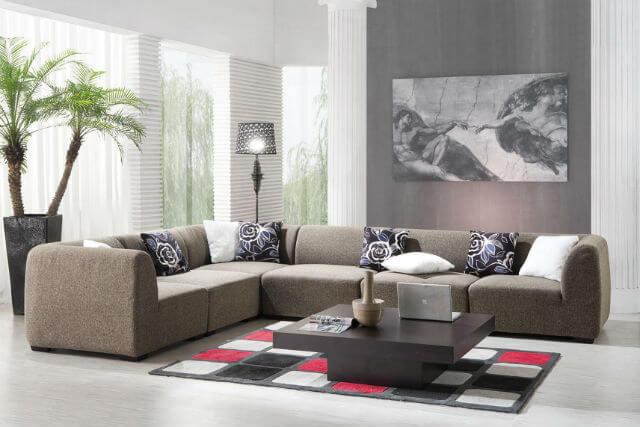 Dịch vụ sơn phòng khách với tông màu đậm và nhạt