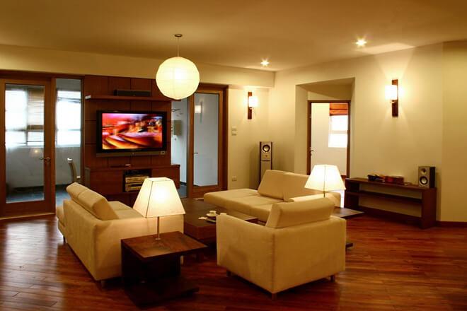 Sơn nhà trang hoàng với mầu sơn phòng khách với gam màu vàng tuyệt đẹp