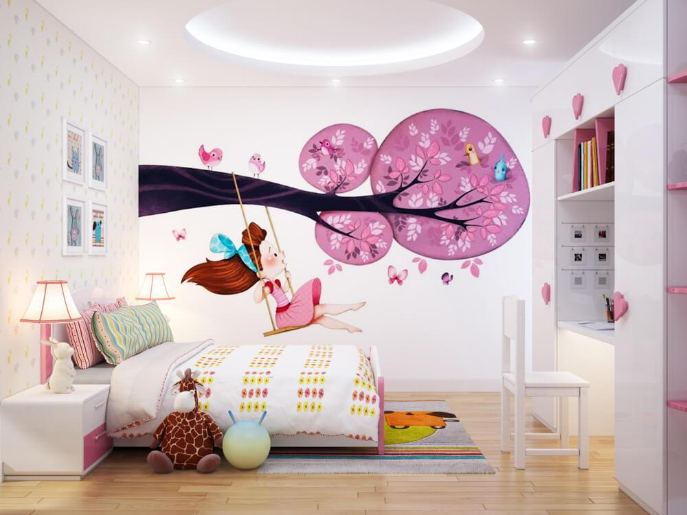 Phòng ngủ của con gái sau khi Sửa thêm phòng ngủ