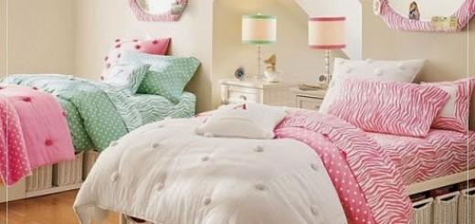 phòng ngủ với sắc hồng dễ xương