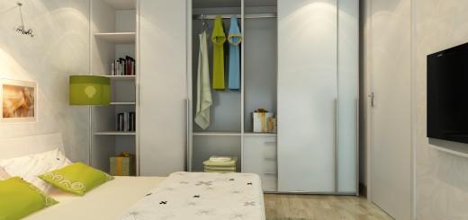 Phòng ngủ với mầu sơn trắng tinh khiết