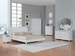 Phòng ngủ mầu trắng hiện đại
