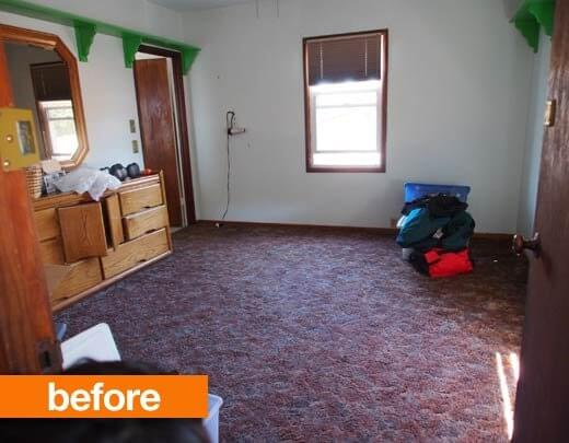 Phòng ngủ trước khi sửa lại